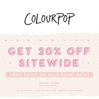 🚚 CLOSED [SITE WIDE 20% OFF SALE] Colourpop Spree (50/50)