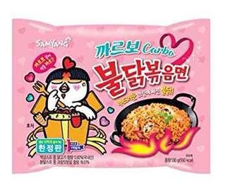 Korea Popular Hot Spicy Noodles Carbonara