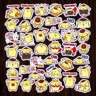 🚚 [BN] Cute Pompompurin Flake Stickers