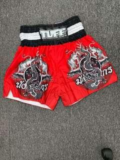 🚚 TUFF Muay Thai Shorts Rare Ltd Edt Dragon Red Print