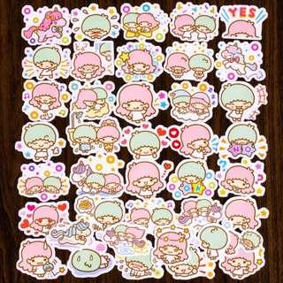 🚚 [BN] Cute Little Twin Stars Flake Stickers