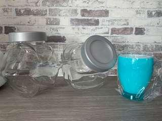 BN Glass Containers and Cup