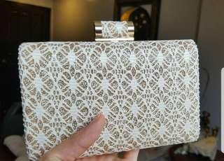 Lace Handcrafted Formal Evening Clutch Bag