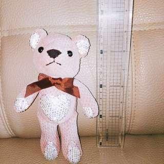 🚚 「全新」歐洲粉紅泰迪小熊吊飾#半價良品市集