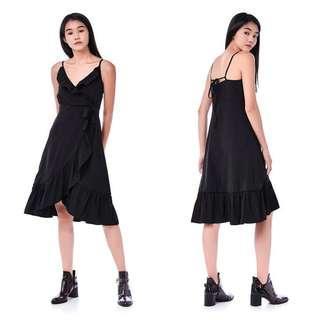 The Editor's Market Mae Ruffle-Trim Strap-Tie Dress