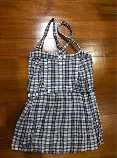 Bardot Strappy Checkered Top