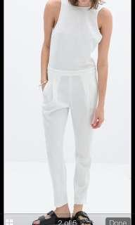 Zara White backless jumpsuit