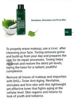 😍SAVE $58!!! 🌿REMOVES LAST TRACES OF MAKEUP 🌿STIMULATES & REVITALIZES 🌿FIRMING EFFECT!! ❤FULL SIZE ❤ Dr GL Anti Aging Toner |100ml