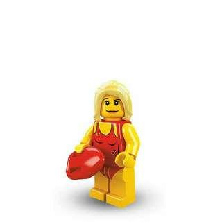 Lego Series 2 Minifigure - Life Guard (Rare and Retired Product)