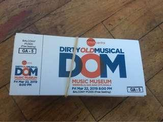 Dirty Old Musical Tickets