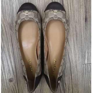 [100% NEW & REAL] Coach 平底鞋 - US6.5 - 啡色