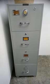 OKACHI Fireproof 4 drawers cabinet safe