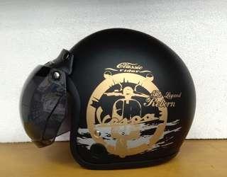 Helm Bogo vespa black doff