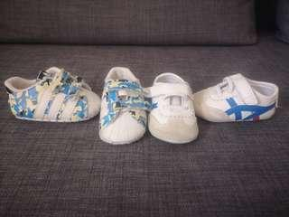 2 pairs soft prewalker Baby Shoes