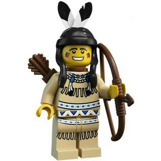 Lego Series 1 Minifigure - The Tribal Hunter (Rare and Retired Product)