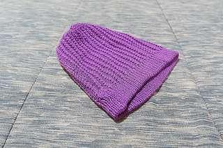 Topi kupluk rajut - ungu