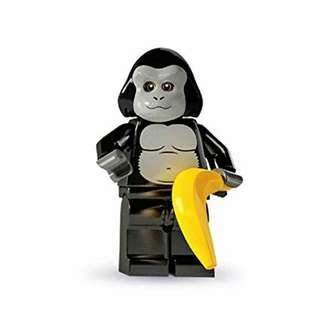 Lego Series 3 Minifigure - The Gorilla Suit Guy (Rare and Retired Product)