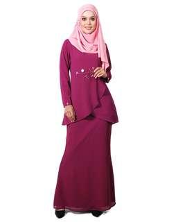 Kurung Moden Lara Nour in Purple