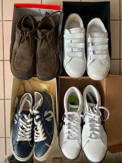 🚚 Preloved Onitsuka Tiger True Religion Agnes B Kickers All Leather Sneakers Shoes