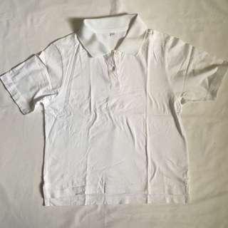 Cropped White Poloshirt