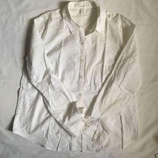 F21 White Button Up