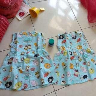 Baju dress anak2 (take all)
