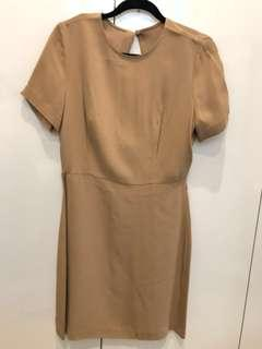 Saba Dress - Camel - Size 10
