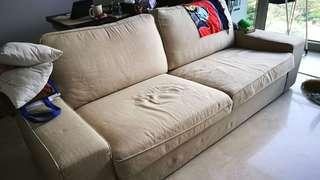 86x230cm Fabric Couch Sofa. Pre-loved.