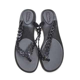 Melissa Black Heart Slippers