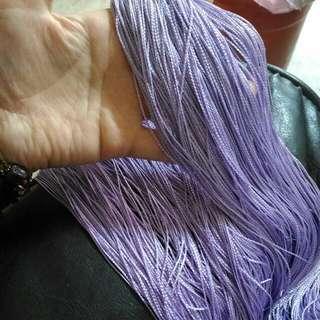 售/換物可) 全新 DIY多用途亮紫色手工藝材料/串珠/編織/瓶做