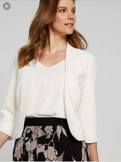 Current season JACQUI E textured crop blazer jacket - Sz 8