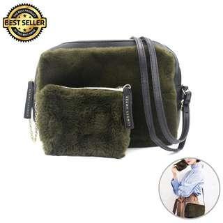 Authentic Beam Light Fur Sling Bag #EST50