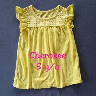 💐Cherokee Yellow Blouse