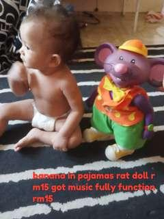 rat banana in pajamas toys