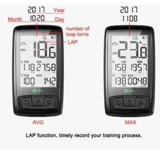 🚚 (Bike Computer) Meilan M4 Wireless Exercise Bike Computer / Speedometer with Bluetooth Speed Cadence Sensor
