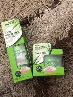 Aloe Vera Gel Chriszen Cream&Toner set RM30 only!
