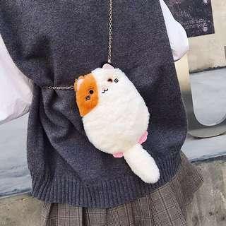 🌈貓咪手袋 #單肩 #斜袋 #貓 #日韓 #包 #hand bag #手袋