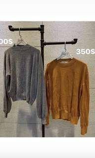🚚 橘子色薄針織#半價衣服市集
