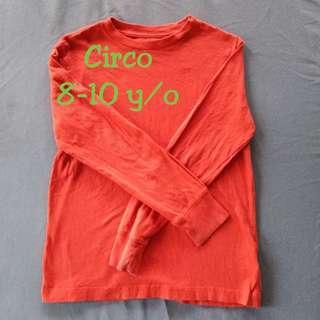 🐚Red Orange Long-sleeves Shirt