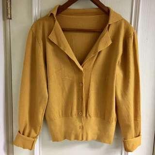 🚚 韓 暖薑黃親膚針織毛衣 #半價衣服市集