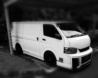 Selling my hiace Low roof gibson bodykit