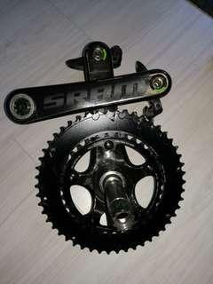 SRAM Red crankset carbon 172.5mm GXP with Ultegra pedals