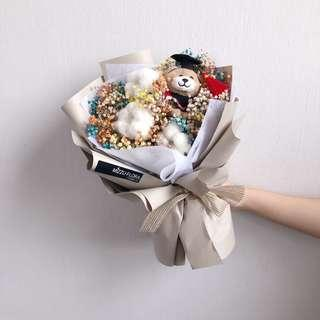 Graduation Dried flower bouquet | Baby's Breath | Graduation Gift | Dried Flower | Birthday Gift |Flower Delivery | 毕业花束 |干花 |满天星花束 |鲜花运送
