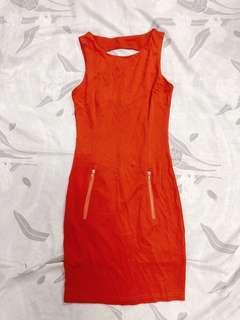 BN Orange-red Body-hugging Dress #makespaceforlove