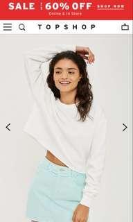Topshop cropped sweatshirt
