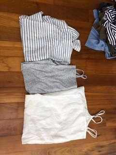 Tops, Crop Top and Dress - Cotton On, Forever 21 and Topshop