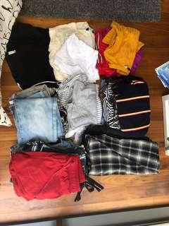 Bundle Clothes! Selling so many items!! Brands such as cotton on, brandy melville, urban outfitters, forever 21, pull&bear, bershka, harry potter, universal studios, editors market, h&m, new look and vintage clothes