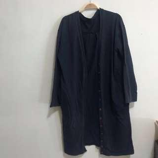 🚚 海軍藍長版罩衫 #半價衣服市集