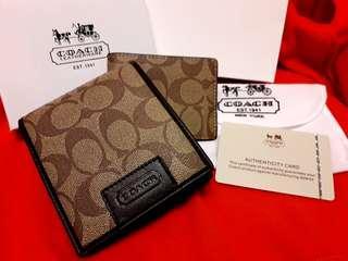 COACH double wallet (Authentic)