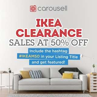 IKEA Clearance Sales At 50% OFF